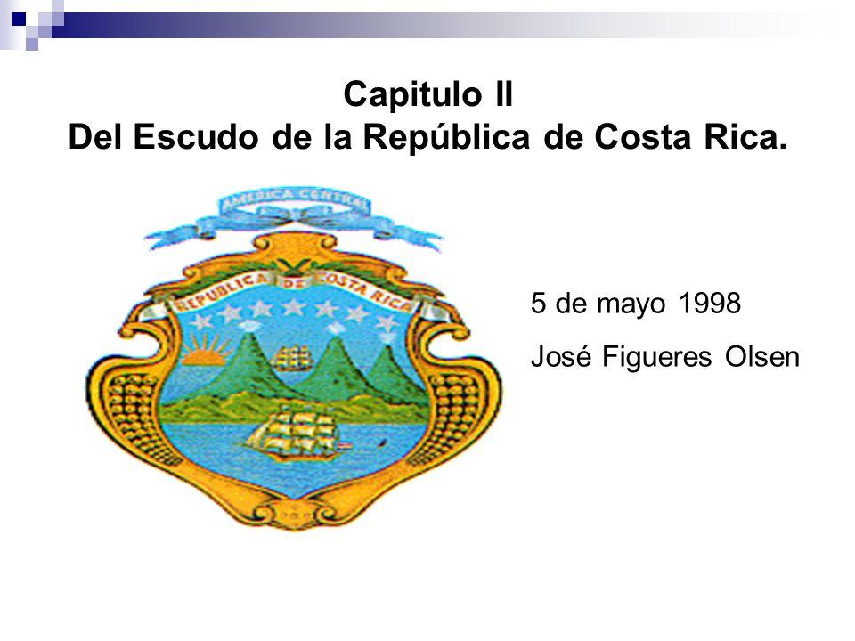 CAPÍTULO III DE LA BANDERA DE LA REPÚBLICA DE COSTA RICA DISPOSICIONES GENERALES ARTÍCULO 6.-La Bandera costarricense es tricolor, formada por cinco franjas horizontales: la primera y la quinta son de color azul que representan el cielo de nuestro país, la segunda y la cuarta blancas que representan la paz, y una franja roja en el centro de un ancho dos veces mayor que las demás que representan la sangre de los caídos por la libertad.