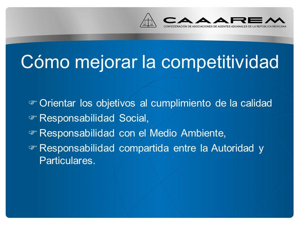 Agentes Aduanales y Competitividad La aportación de los Agentes Aduanales ha sido significativa a la modernización aduanera y a la globalización.