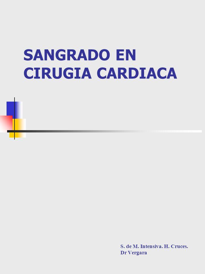 SANGRADO EN CIRUGIA CARDIACA S. de M. Intensiva. H. Cruces. Dr Vergara