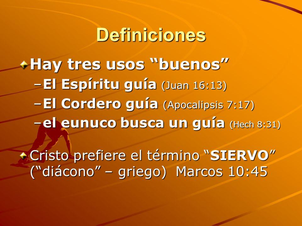 Cuarto Nivel: Definiciones relacionadas al Discipulado y Liderazgo Líder: Dirigente, jefe, que ocupa el primer lugar, cabeza de un grupo o competencia