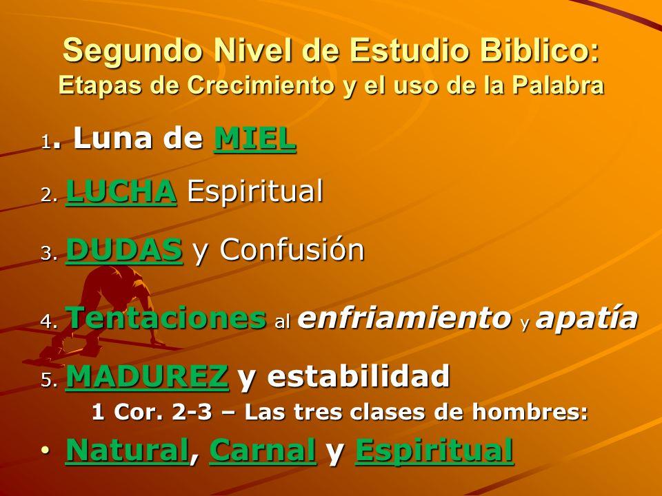 Primer Nivel de Discipulado 5 Medios para desarrollar la espiritualidad 3. Comunión y Adoración en la IGLESIA – Heb. 10:24-25 4. SERVICIO OBEDIENTE al