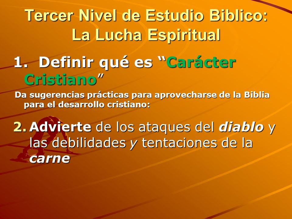 Segundo nivel de crecimiento: Lecciones para apoyar el crecimiento espiritual y el servicio al Señor 1.Enseña a dar su TESTIMONIO 2.Establece tiempo D