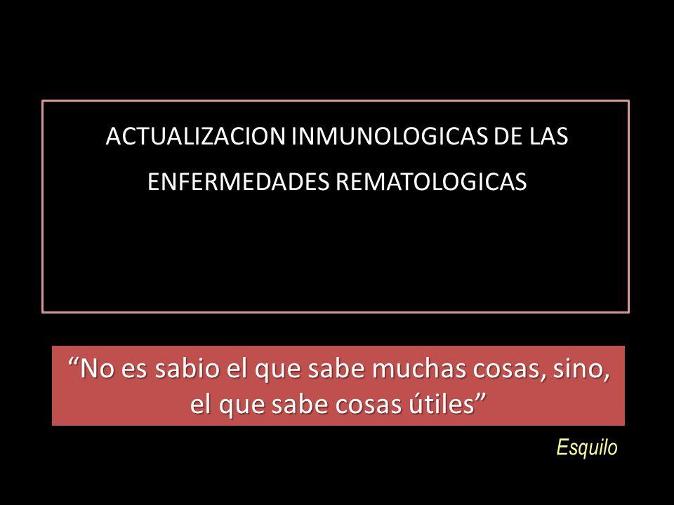 Contenido 1.Historia 2.Definición y función de Sistema inmune 3.Genética y evolución 4.Respuesta Inmune innata y adquirida 5.Complejo mayor de histocompatibilidad 6.Presentación antigénica 7.Significado clínico : Lupus, AR; enfermedades autoinflamatorias 8.Inmunosenescencia 9.Inmunogenicidad 10.Relojes biologicos y A.