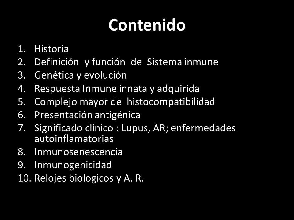 I.ONTOGENIA Y FILOGENIA DEL SISTEMA INMUNITARIO A.