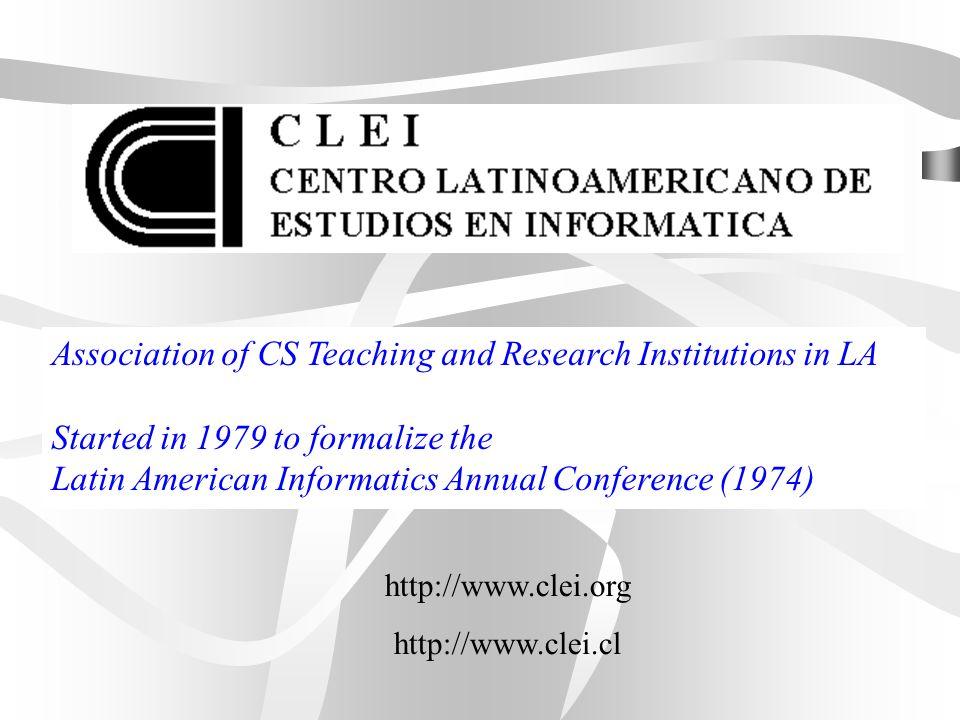 El CLEI, Centro Latinoamericano de Estudios en Informática, es una institución sin fines de lucro, que reúne a prestigiosas Universidades, Asociaciones Profesionales y Centros de Investigación Latinoamericanos, interesados en el área de investigación, docencia y desarrollo de la informática.