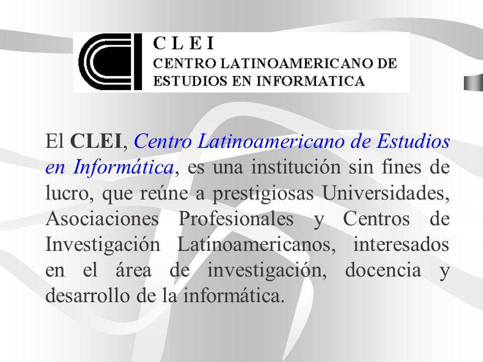El CLEI, Centro Latinoamericano de Estudios en Informática, es una institución sin fines de lucro, que reúne a prestigiosas Universidades, Asociacione