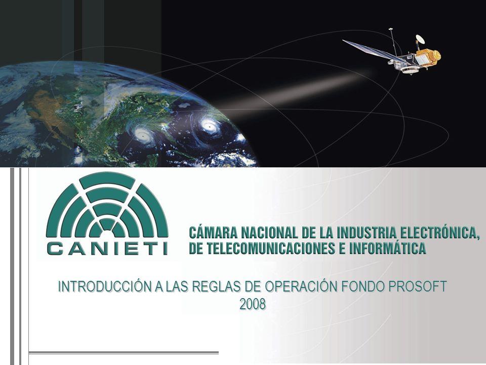 INTRODUCCIÓN A LAS REGLAS DE OPERACIÓN FONDO PROSOFT 2008