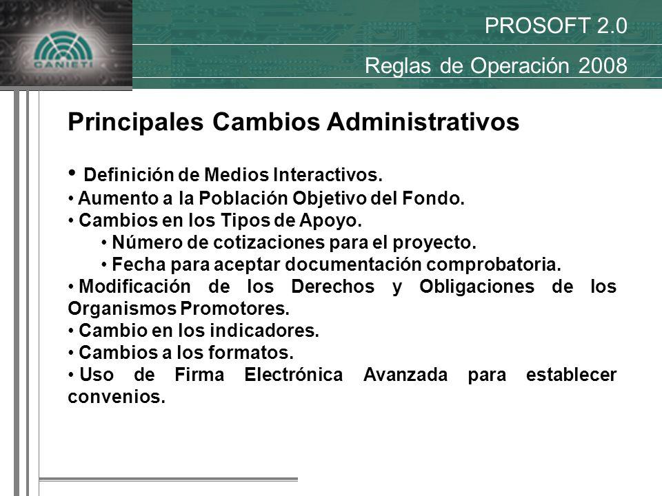 Principales Cambios Administrativos Definición de Medios Interactivos.
