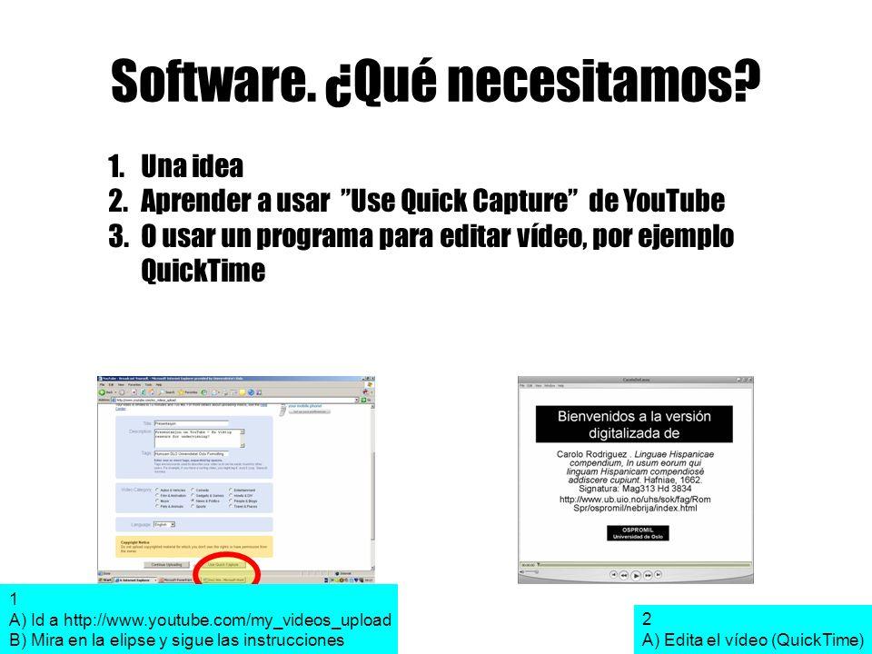 Software. ¿Qué necesitamos.