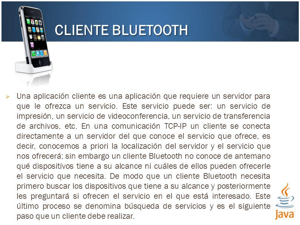 Una aplicación cliente es una aplicación que requiere un servidor para que le ofrezca un servicio. Este servicio puede ser: un servicio de impresión,