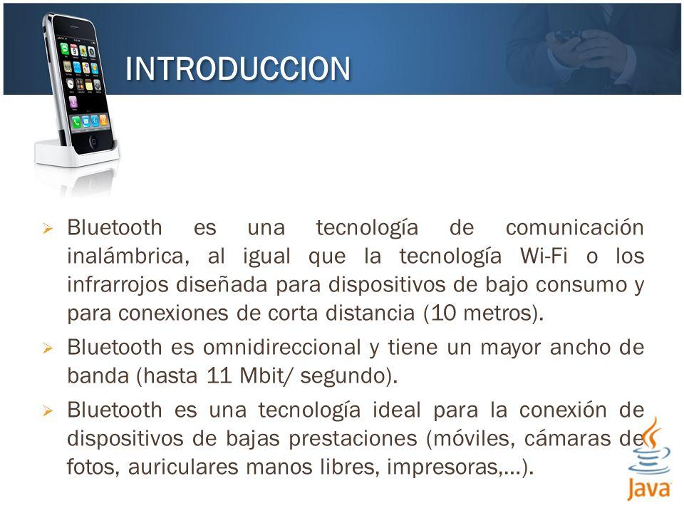 Bluetooth es una tecnología de comunicación inalámbrica, al igual que la tecnología Wi-Fi o los infrarrojos diseñada para dispositivos de bajo consumo