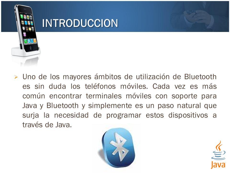 El JSR-82 especifica un API de alto nivel para la programación de dispositivos Bluetooth.