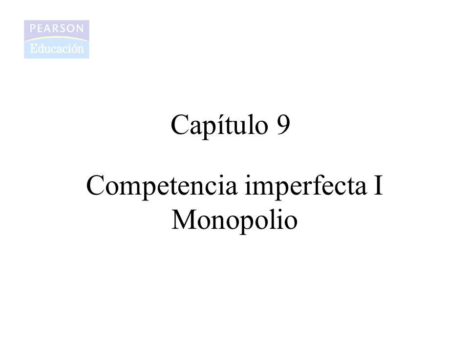 Capítulo 9 Competencia imperfecta I Monopolio