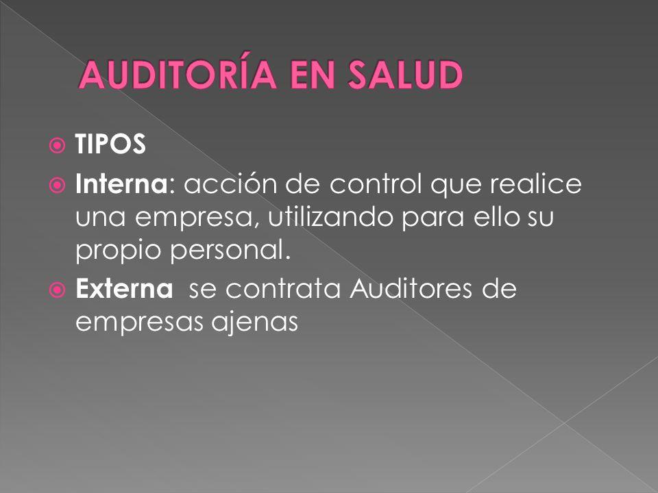 DEFINICIÓN Conjunto de acciones destinadas a la evaluación de la atención mediante el análisis de los procesos que intervienen en la prestación de los