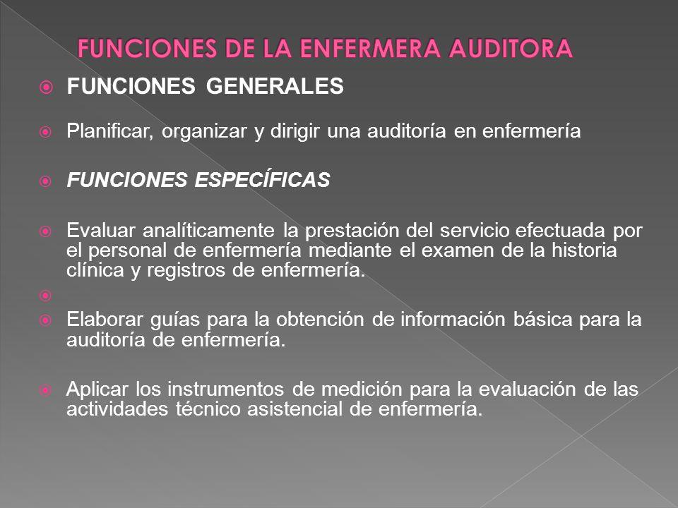 La observación directa de los procedimientos, cuidados y tratamiento, Auditoria de los registros clínicos y Entrevista respecto a la atención que se v