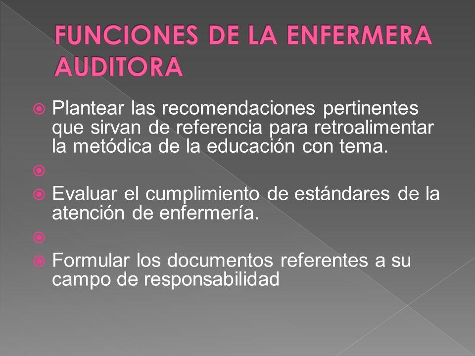 Elaborar un informe detallado de los hallazgos al finalizar la auditoría. Elevar a la autoridad competente las conclusiones de la auditoría. Mantener