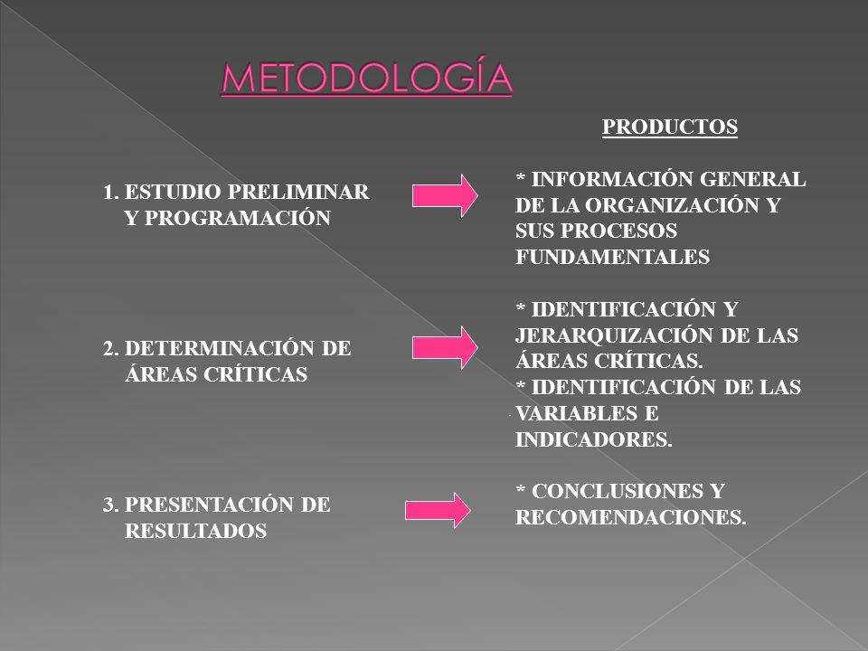 ESTUDIO PRELIMINAR Y PROGRAMACIÓN PROGRAMA DE TRABAJO CONOCIMIENTO GENERAL DE LA ORGANIZACIÓN CONOCIMIENTO GENERAL DE LA ORGANIZACIÓN CONOCIMIENTO DE