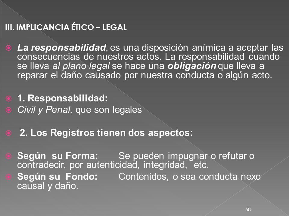 I.DEFINICIÓN: Acción de registrar, escribir en un documento, o formulario. Es un respaldo legal que tenemos como profesional, es una responsabilidad.