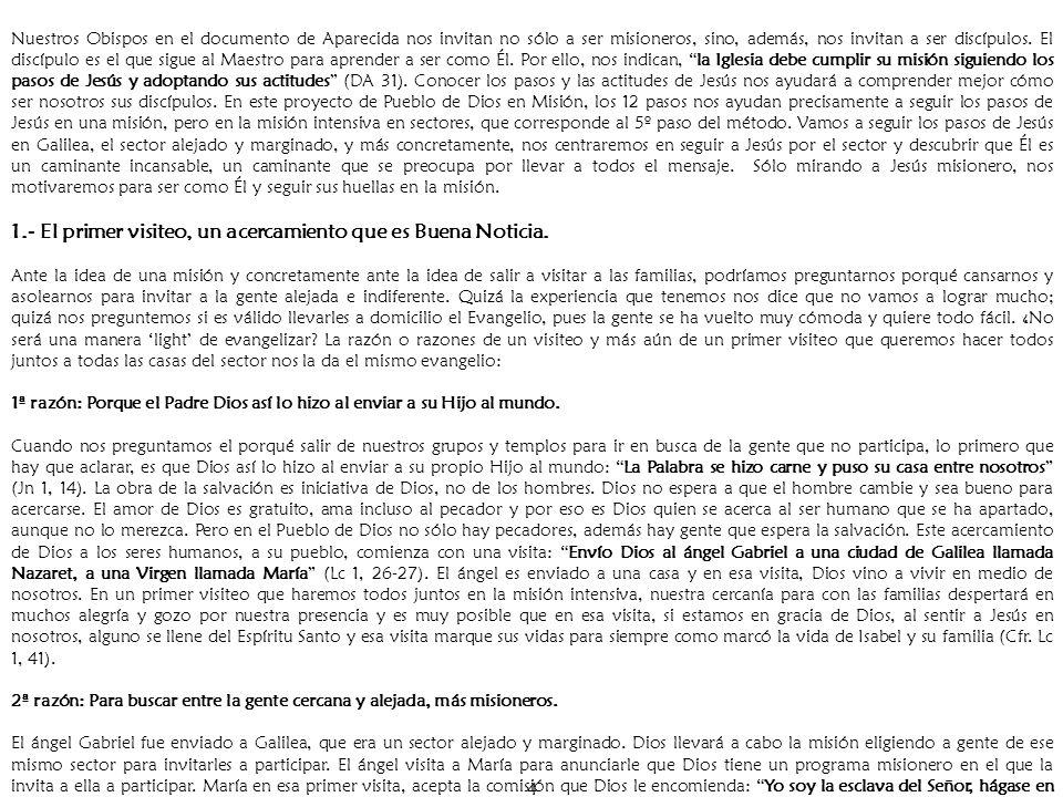 15 Capítulo III METODOLOGIA PARA LA PRIMER VISITA.