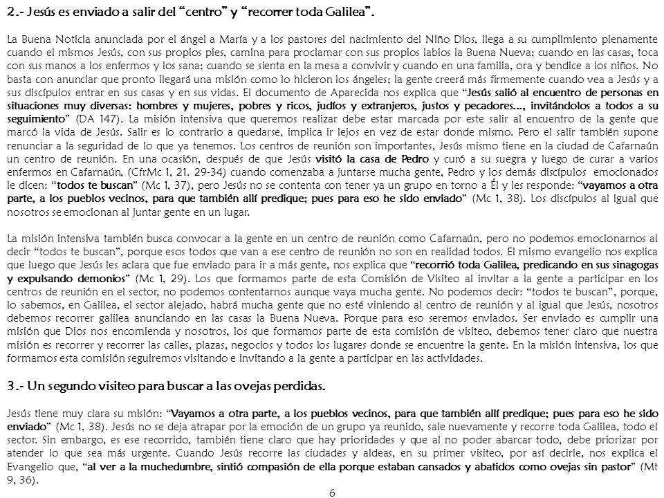 37 Capítulo VII PROPUESTA DE ORGANIZACION PARA EL EQUIPO DE VISITADORES.