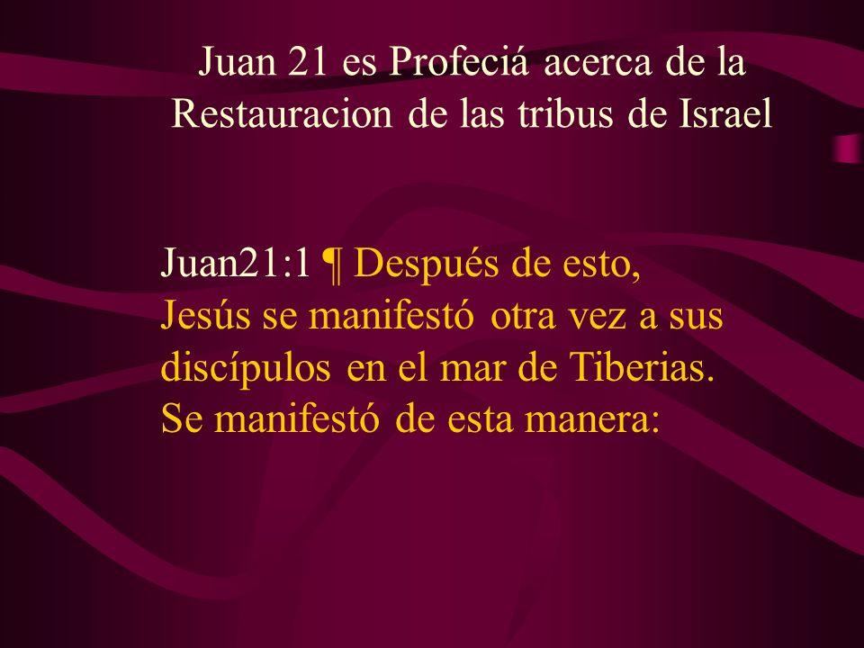 Juan21:1 ¶ Después de esto, Jesús se manifestó otra vez a sus discípulos en el mar de Tiberias. Se manifestó de esta manera: Juan 21 es Profeciá acerc