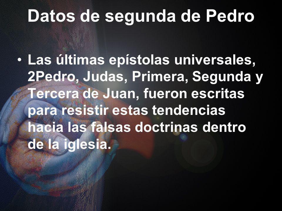 Résumé de 2Pedro A. Conozcan su salvación (1:1-11) B. Conozcan la Escritura (1:12-21) C. Conozcan sus adversarios, los falsos profetas (2:1-22) D. Con