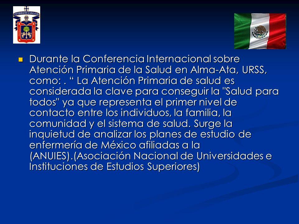 OBJETIVO Identificar las unidades de aprendizaje relacionadas con la salud comunitaria en los planes de estudio de las carreras de enfermería en México.
