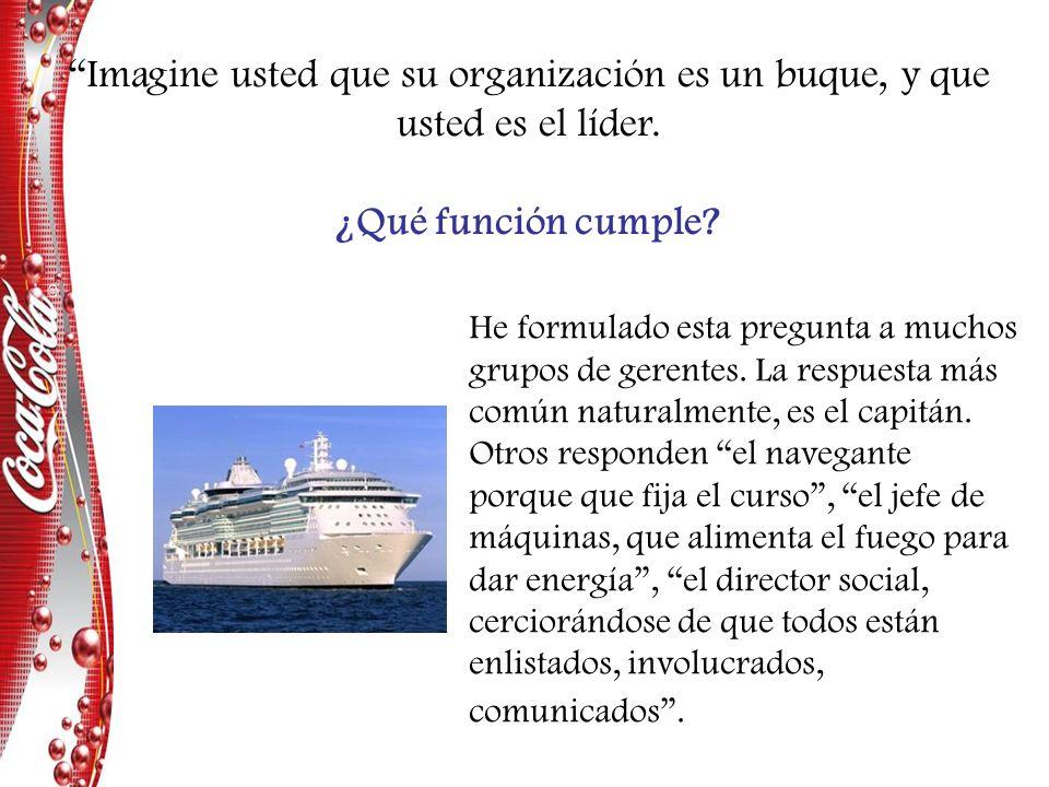 He formulado esta pregunta a muchos grupos de gerentes. La respuesta más común naturalmente, es el capitán. Otros responden el navegante porque que fi