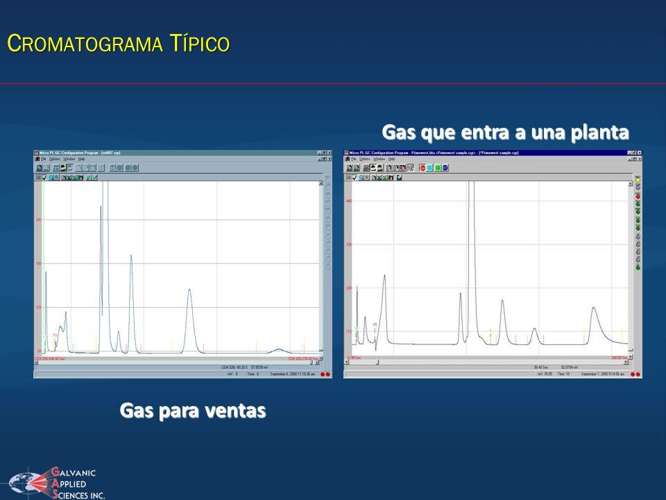 Gas para ventas Gas que entra a una planta C ROMATOGRAMA T ÍPICO