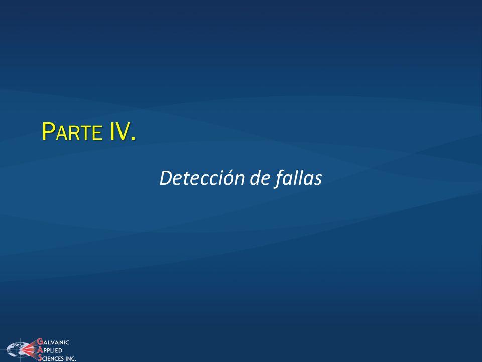 P ARTE IV. Detección de fallas