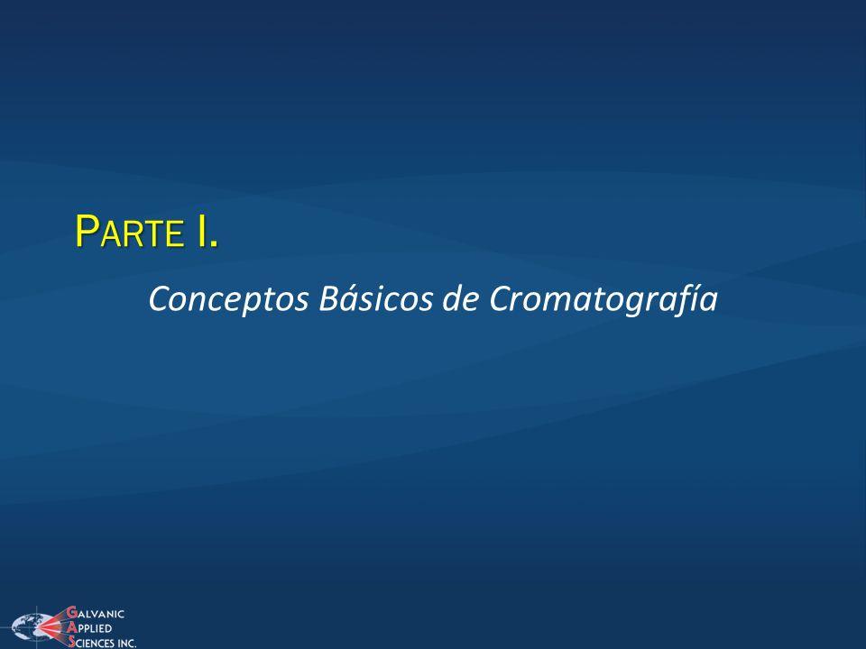 P ARTE I. Conceptos Básicos de Cromatografía