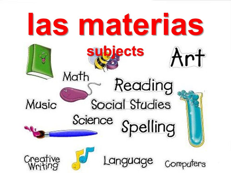 las materias subjects
