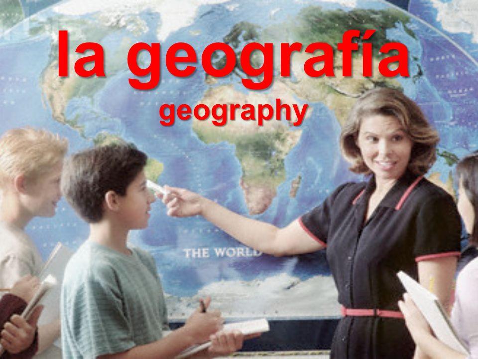 la geografía geography