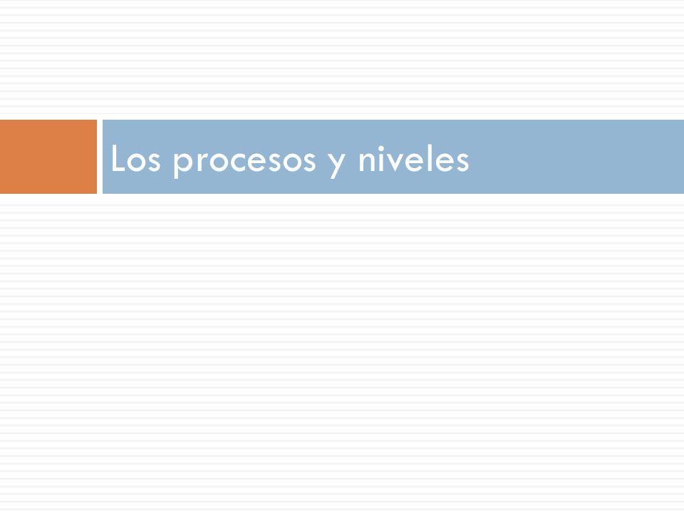 Los procesos y niveles