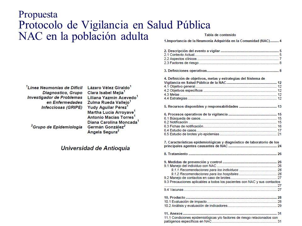 Propuesta Protocolo de Vigilancia en Salud Pública NAC en la población adulta