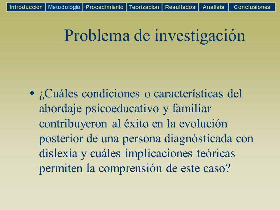 El tiempo (Díaz Noguera, 2003) Cronos Kayros IntroducciónMetodologíaProcedimientoTeorizaciónResultadosAnálisisConclusiones