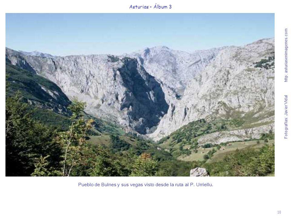 10 Asturias - Álbum 3 Fotografías: Javier Vidal http: asturiasenimagenes.com Pueblo de Bulnes y sus vegas visto desde la ruta al P. Urriellu.