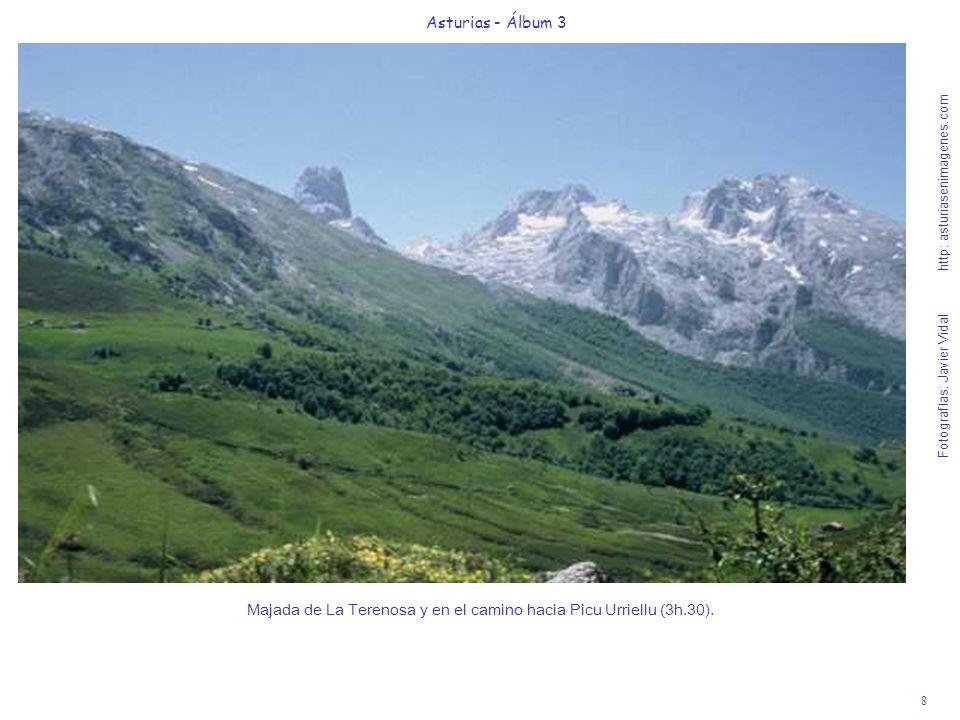 8 Asturias - Álbum 3 Fotografías: Javier Vidal http: asturiasenimagenes.com Majada de La Terenosa y en el camino hacia Picu Urriellu (3h.30).