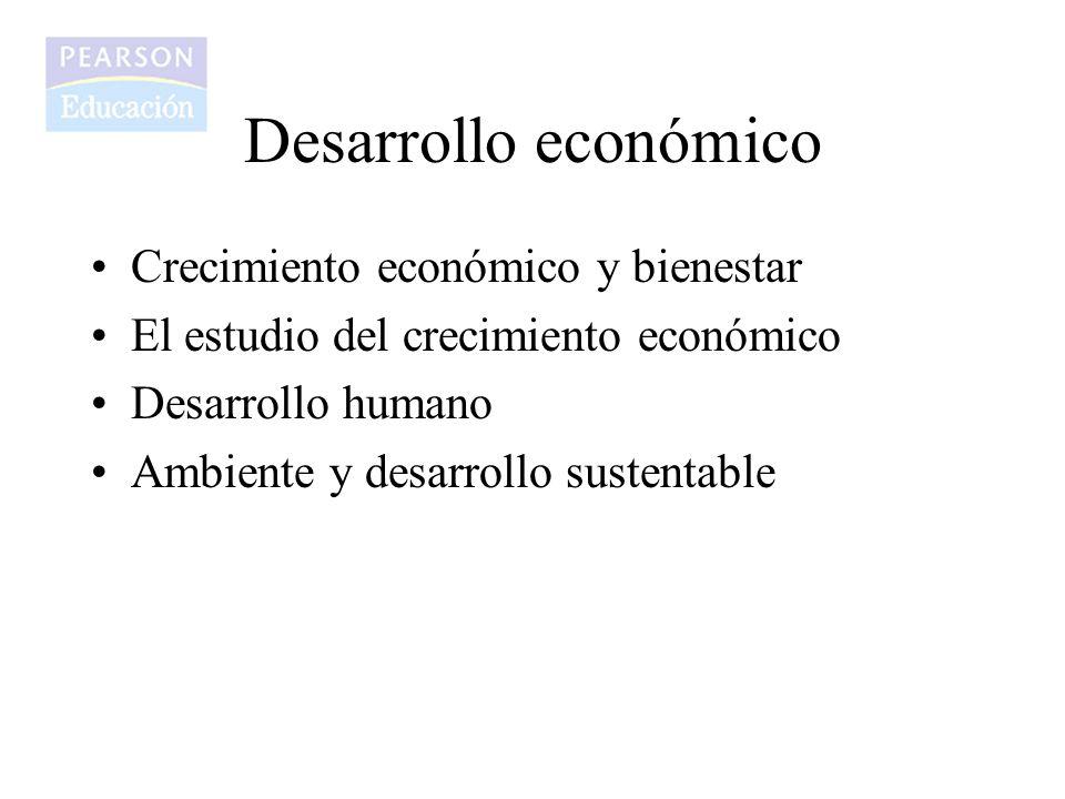 Crecimiento económico y bienestar El estudio del crecimiento económico Desarrollo humano Ambiente y desarrollo sustentable