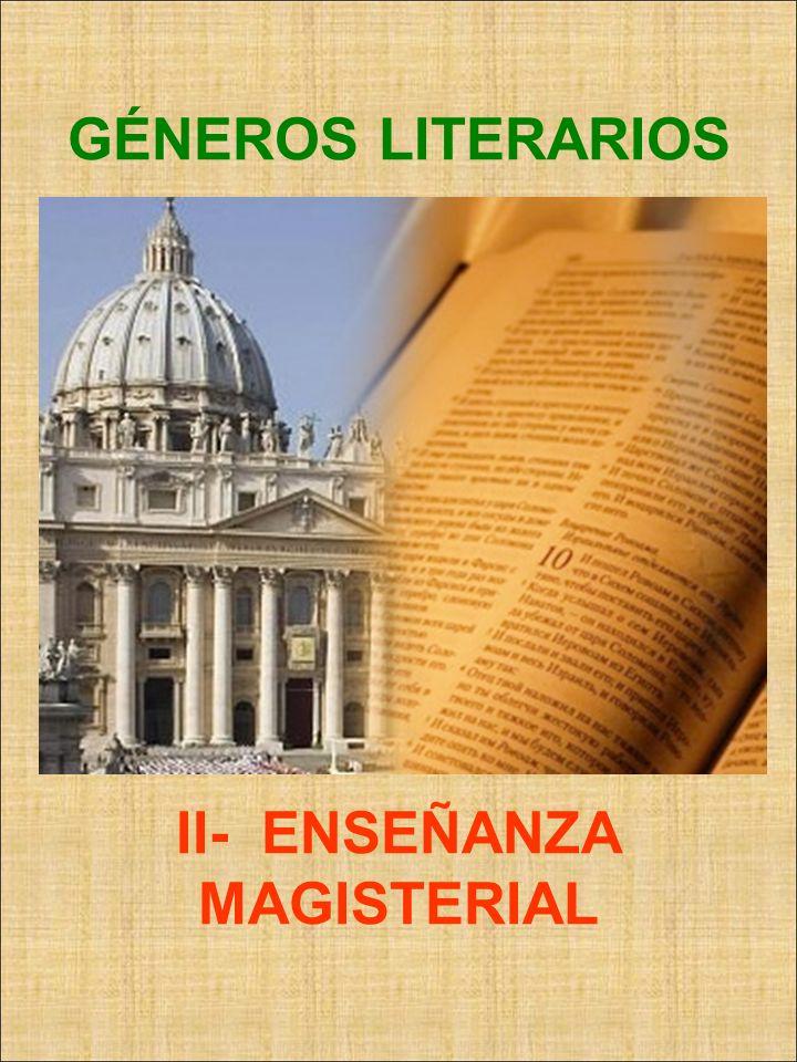 GÉNEROS LITERARIOS II- ENSEÑANZA MAGISTERIAL