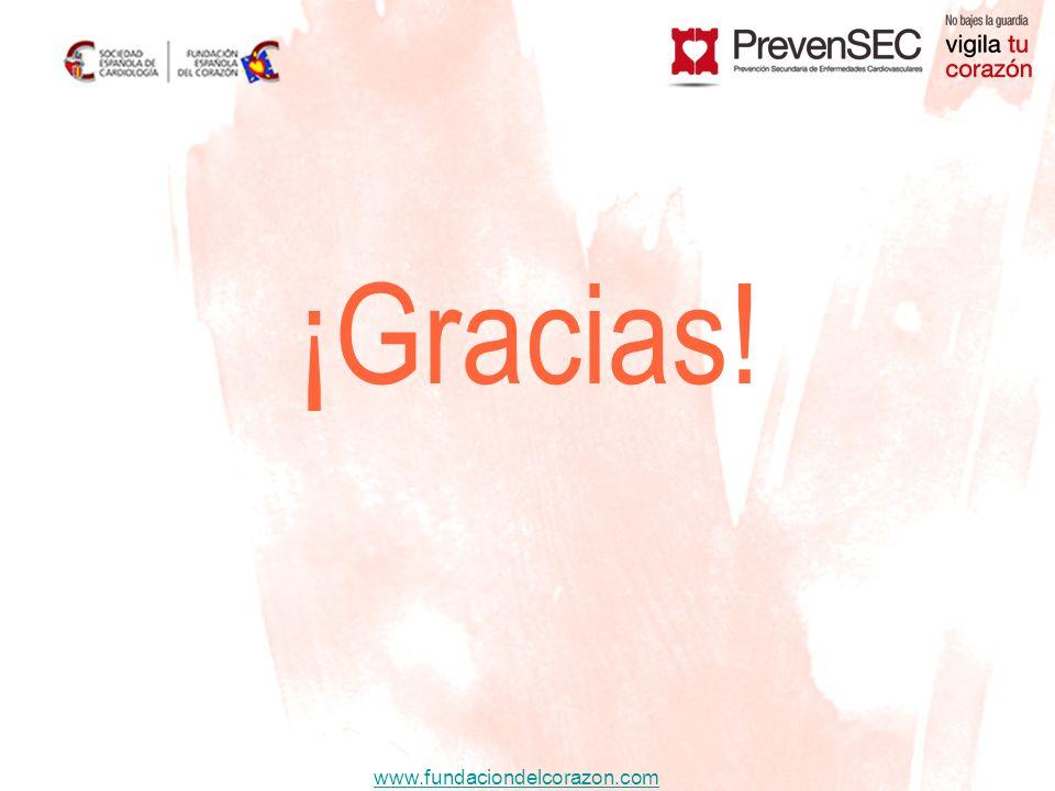 www.fundaciondelcorazon.com ¡Gracias!