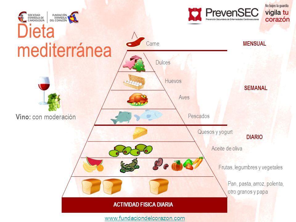 www.fundaciondelcorazon.com Dieta mediterránea