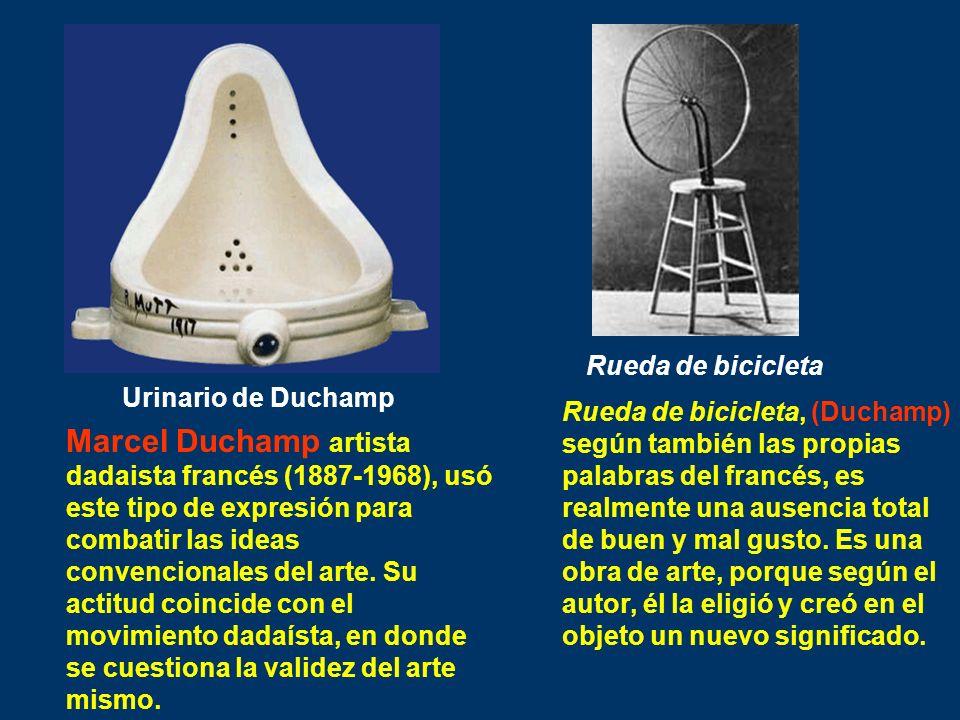 Urinario de Duchamp Marcel Duchamp artista dadaista francés (1887-1968), usó este tipo de expresión para combatir las ideas convencionales del arte. S
