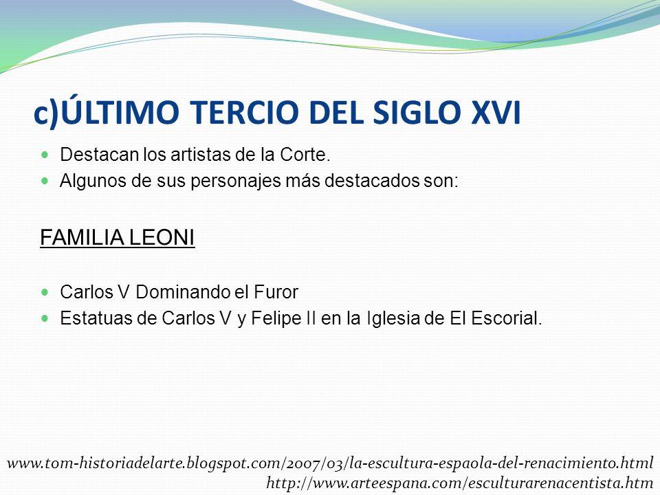 Alonso Berruguete Juan de Juni Algunas de sus mejores obras son : Retablo de la Iglesia de Santiago en Valladolid Retablo de San Benito en Valladolid
