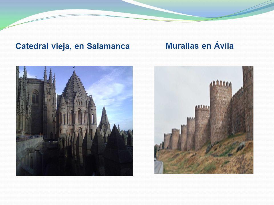 Catedral vieja, en Salamanca Murallas en Ávila