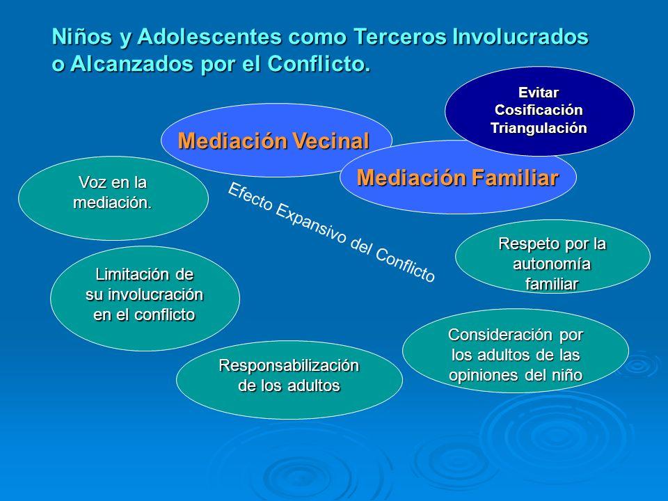 Niños y Adolescentes como partes en la Mediación. Mediación Escolar Protagonismo en la mediación Responsabilización según su madurez Mediación Penal I