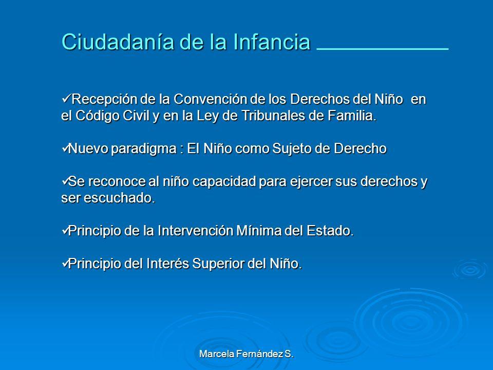 Marcela Fernández S. Aportes de la Convención Internacional de los Derechos del Niño Cambio de Enfoque De la Situación Irregular a La Protección Integ