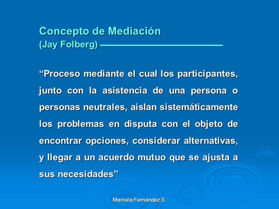 Marcela Fernández S. Introducción a la Mediación Concepto Concepto Objetivos. Objetivos. Ideología Ideología Principios de la Mediación Principios de