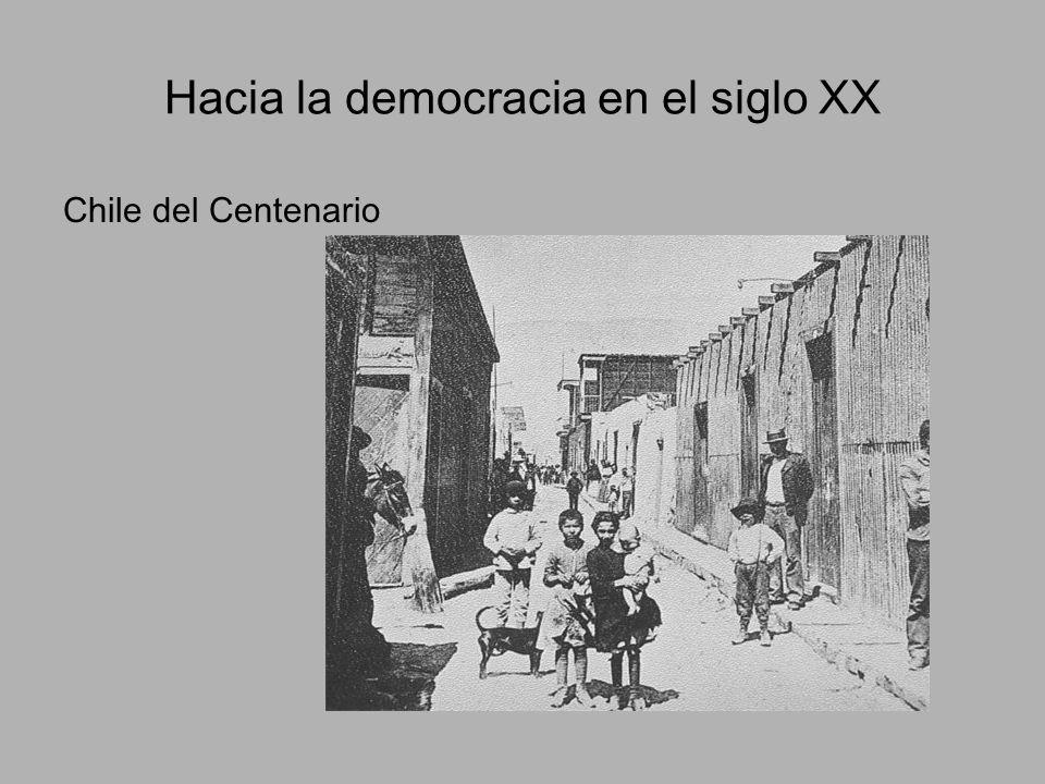 Hacia la democracia en el siglo XX Chile del Centenario
