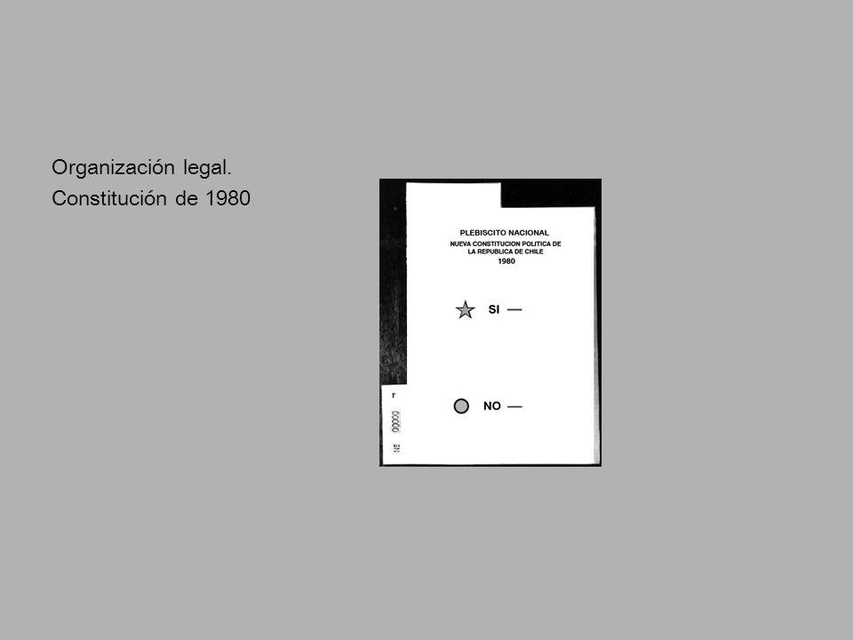 Organización legal. Constitución de 1980